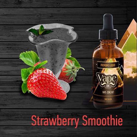 Жидкость для электронных сигарет Vape Zone: Strawberry Smoothie 30 мл
